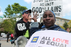 Marriage equality protest in D.C. Photo by Elvert Barnes.
